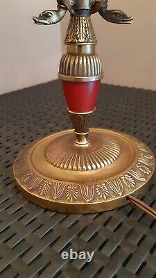 Lampe Bouillotte de Bureau en Bronze Doré Style Empire et D'époque Napoléon III