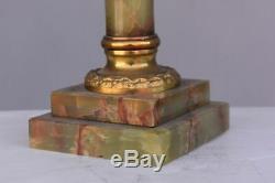 Lampe Colonne en bronze et onyx Napoléon III