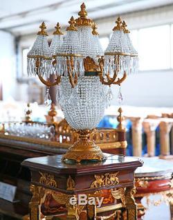 Table De Cristal Belle Epoque Lampe Chevet En Style Napoleon Bronze htsQrCdx