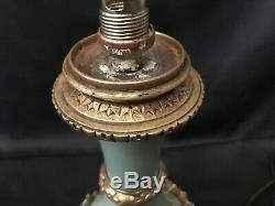 Lampe Napoléon III porcelaine céramique bronze et laiton