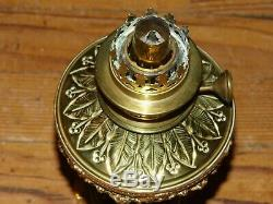 Lampe à Pétrole Porcelaine Bleu et Bronze Napoléon III
