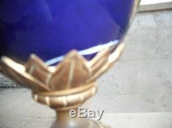 Lampe porcelaine de Sèvres non sign bronze doré et ciselé Louis XVI Napoléon III