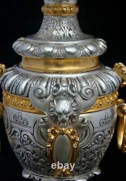 Lampes Bronze Doré 19th Century Pair Of Lamps Victor Paillard 1805-1896