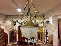 Lustre Napoléon III bronze doré