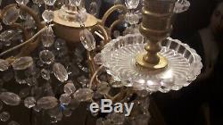 Lustre cristal de Baccarat et bronze dore Époque Napoleon III