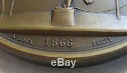 MED10534 MEDAILLE TELEGRAPHIE ELECTRIQUE NAPOLEON III par Bovy 1866