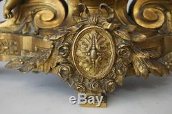 Magnifique Pendule en bronze époque Napoléon III motif aux angelots