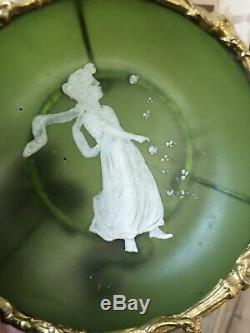 Mary Gregory Verre Émaillé Monture Bronze Doré XIXeme Napoléon III Enamel Glass