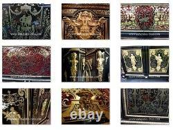 Meuble 2 portes en marqueterie Boulle époque Napoléon III
