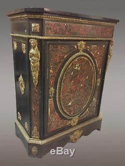Meuble d'appui marqueterie Boulle Napoléon III bronzes dorés