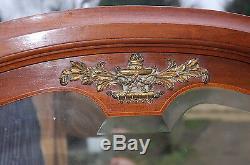 Miroir grand TRES BEL ETAT napoleon 3 louis philippe BISEAUTE bronze