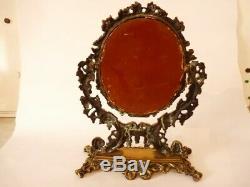 Miroir psyché bronze Napoléon III (25682)