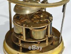 Mouvement de pendule Brocot avec balancier mercure et clé XIXème siècle