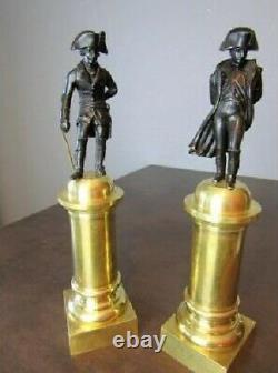 Napoléon Et Frederic II Roi non Pendule bronze empire Napoléon III cartel