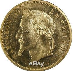 Napoléon III 50 Francs 1862 Le Tricheur Movie Token PCGS MS64 Maz-1601 Essai