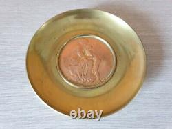 Oscar Roty fonte Colin Paris coupe circulaire en bronze Baiser Cupidon grecque