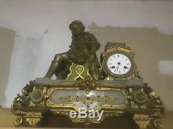 PENDULE ancienne Horloge BRONZE NAPOLEON III