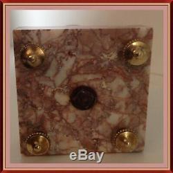 Paire De Cassolette Marbre & Bronze XIX Ème Napoleon III