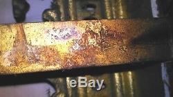 Paire De Chenets En Bronze Avec Signature Vb Superbes & Rare