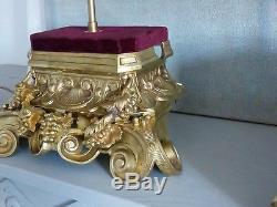 Paire De Lampes En Bronze Doré, Napoléon III, XIX ème