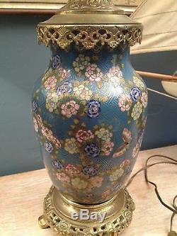 Paire De Lampes En émaux Cloisonnés Et Bronze Doré, fin XIX°