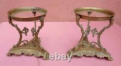 Paire Porte lampe à huile /pétrole et bronze, époque Napoléon III