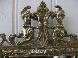 Paire d'appliques en bronze Napoléon III miroirs biseautés