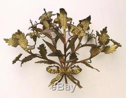 Paire dappliques bronze, bouquet de Lys, Napoléon III