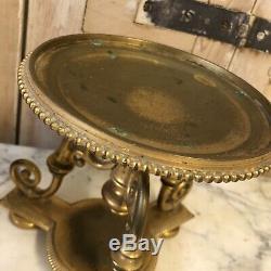 Paire de Cassolette Bronze Doré XIXeme Napoléon III Pendule Ancien Empire