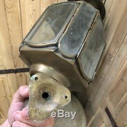 Paire de Lanterne Applique Extérieure Lampe Laiton Bronze Lamp XIXeme Napoléon 3