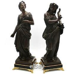 Paire de Sculpture en Bronze Napoleon III le Muses Clio et Terpsichore -du 19ème