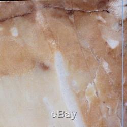 Paire de cassolettes en marbre jaune de sienne, XIXe