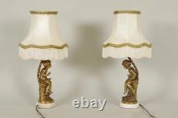Paire de lampes en bronze Napoléon III signées Moreau