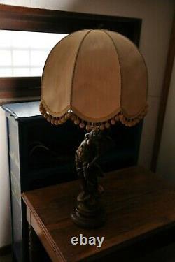 Paire de lampes sur sculptures de MOREAU / époque Napoléon 3