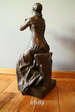 Paul DUBOIS (1829-1905) & Barbedienne La foi Tres grand bronze signe 68 cm