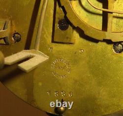 Pendule Ancienne A Colonnes Napoleon III Garniture Bronze Horloge Portique