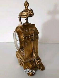 Pendule Cartel En Bronze Napoléon 3