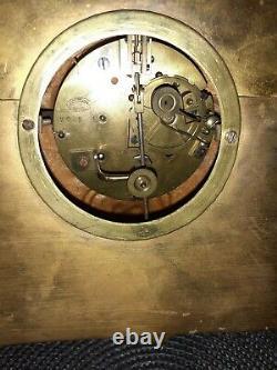 Pendule Doré Regule Et Bronze XIX ème Clock Pendulum Louis XVI Napoléon III