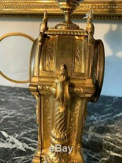 Pendule En Bronze Doré Et émail Cloisonné Du XIXème Siècle
