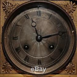 Pendule Galilée en bronze doré, XIXe