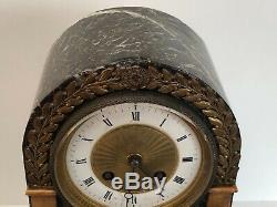 Pendule Napoleon III Decor Antique Marbre Vert Paire De Candelabres 19eme C2355