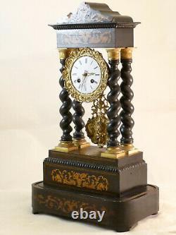 Pendule Napoléon III Sur Socle horloge clock uhr reloj orologio