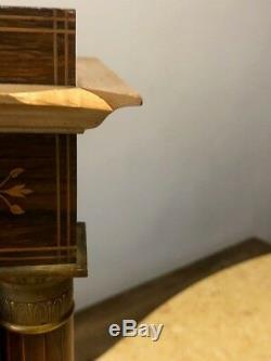 Pendule ancienne à colonne portique Napoléon III Charles X