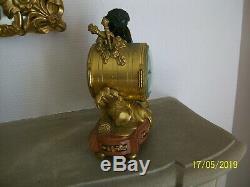 Pendule bronze doré, Napoléon III, XIX eme siècle