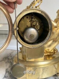 Pendule bronze doré amour signé Le Noir à Paris Napoléon III