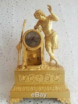 Pendule en bronze, Empire, clock Napoléon III