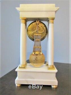 Pendule en bronze balancier au couteau, Empire, clock Napoléon III