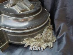 Pendule marbre sculpture apotre enfant bronze d'époque napoleon III 19 ème