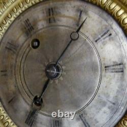 Pendule portique NAPOLEON III bois noirci TRES BON ETAT DE MARCHE