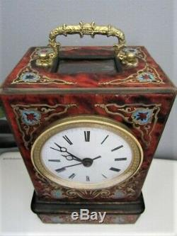 Petite Pendule De Voyage Boulle Napoléon III Pendule en bronze clock